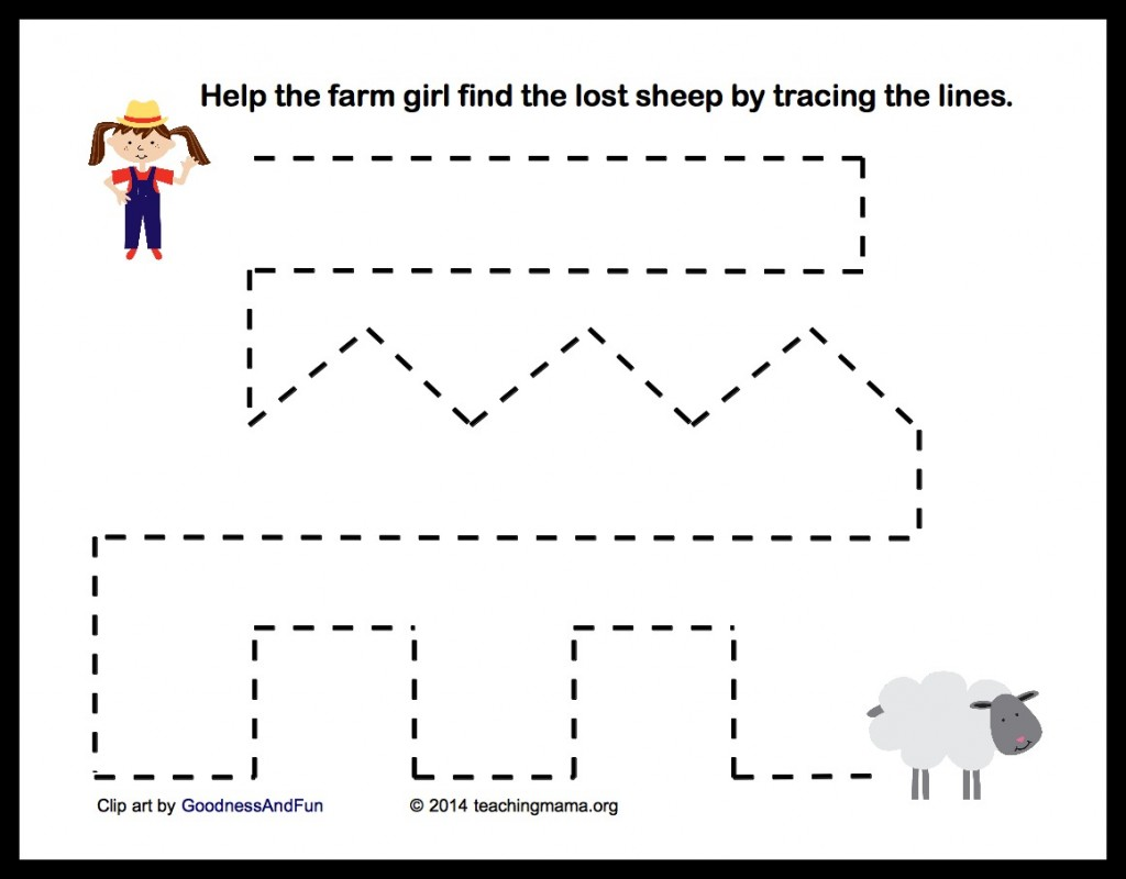 Preschool Printables Farm Animals 13695