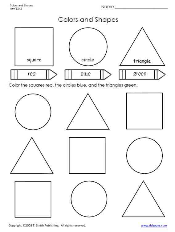 Preschool Worksheets On Colors And Shapes 581983