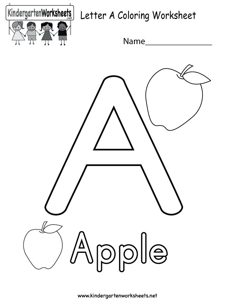 Printable Alphabet Worksheets Kindergarten The Best Worksheets