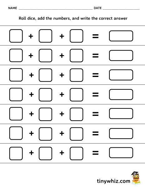 Printable Blank Addition The Best Worksheets Image Collection