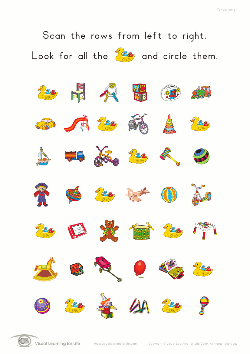 Printable Visual Scanning Worksheets For Adults Elegant Product