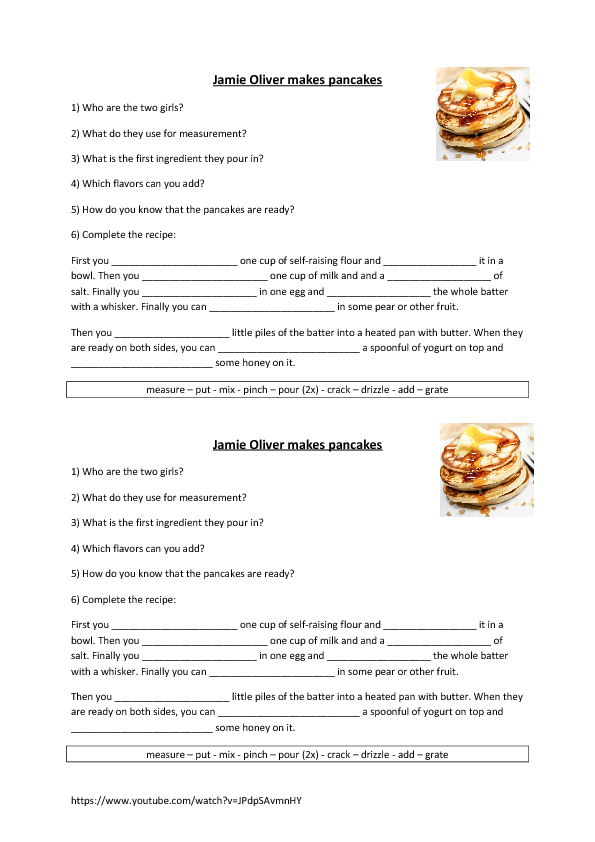 Recipe Worksheets The Best Worksheets Image Collection