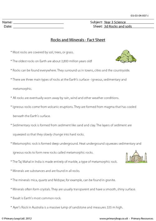 Rocks And Minerals Worksheets Free The Best Worksheets Image
