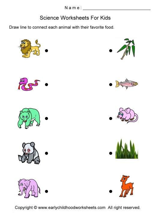 Science Printable Worksheets For Preschool 1277692