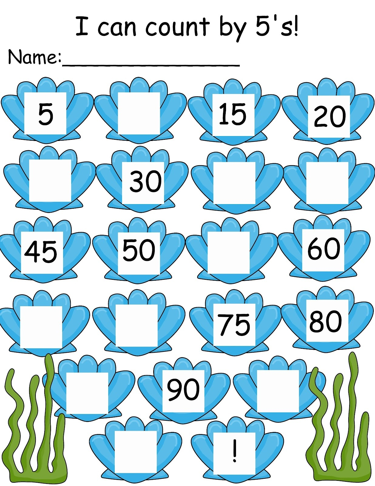 Skip Counting By 5 S Worksheets Kindergarten 539042