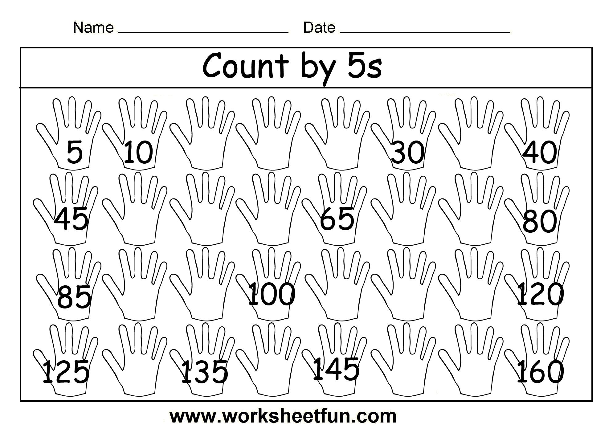Skip Counting By 5 S Worksheets Kindergarten 539057