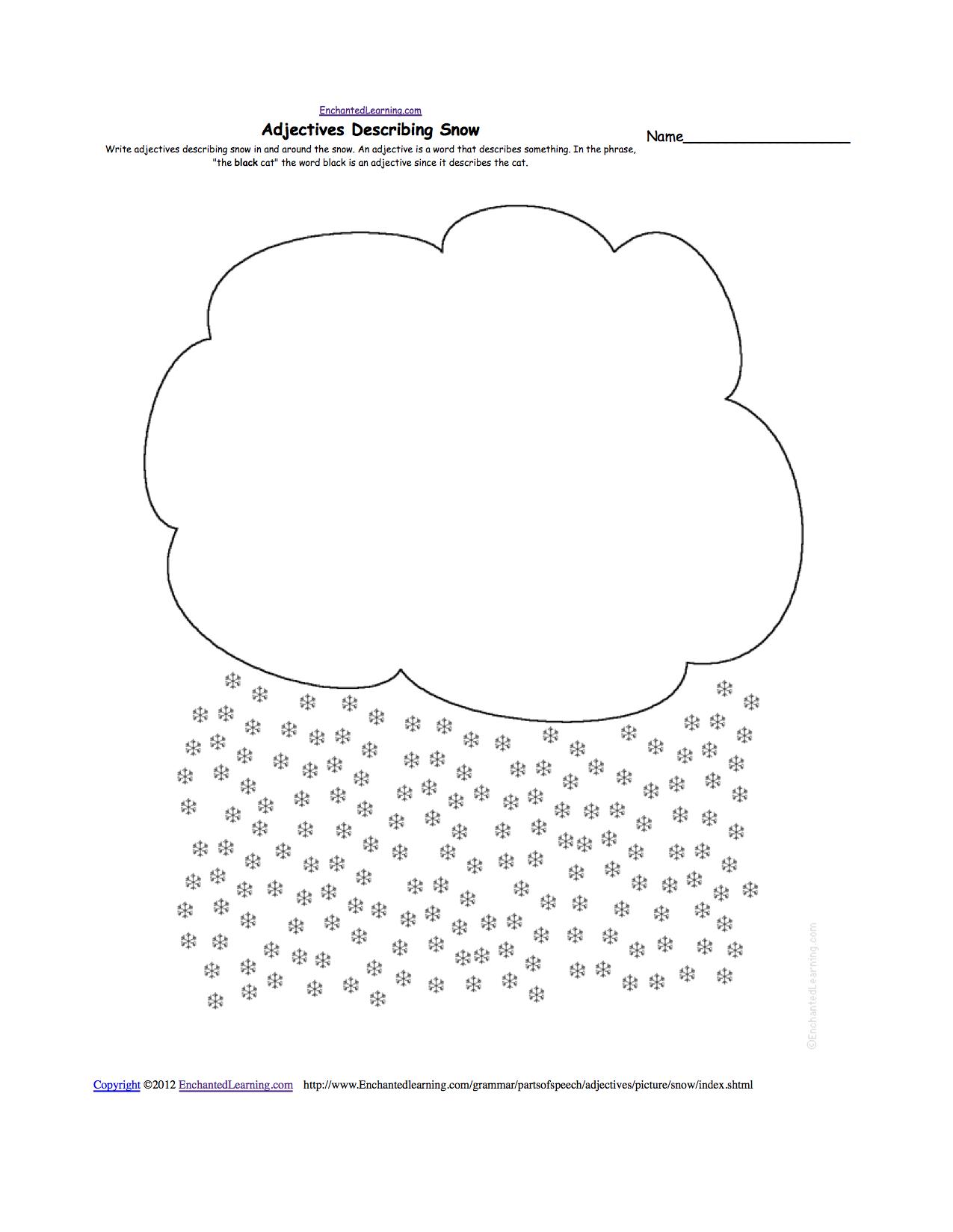 Snow Worksheets Kindergarten The Best Worksheets Image Collection