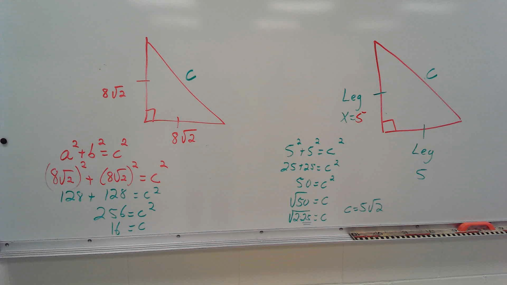 Special Right Triangles Worksheets Answer Key