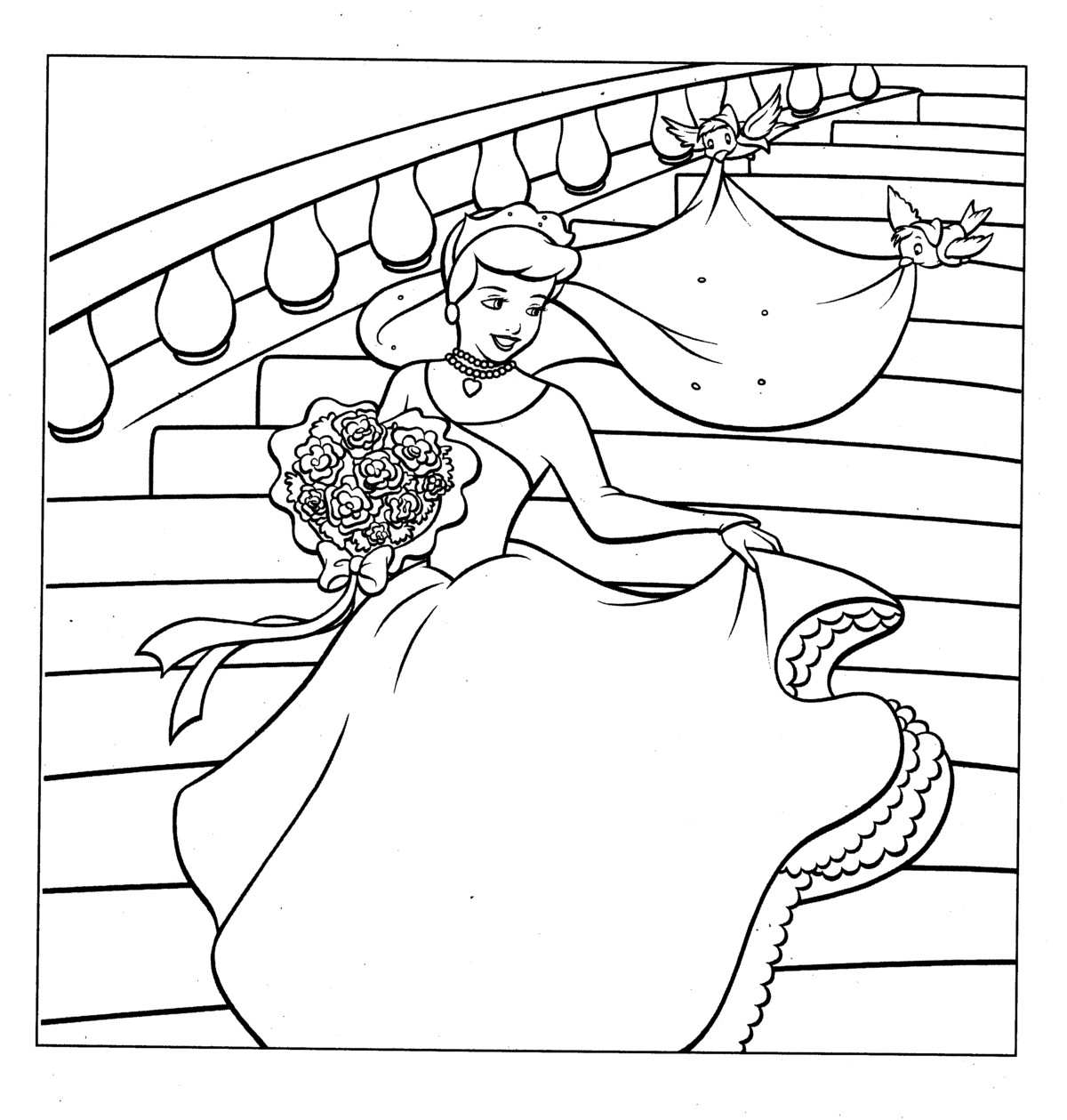 Suddenly Coloring Book Cinderella Pages On Inf  7042