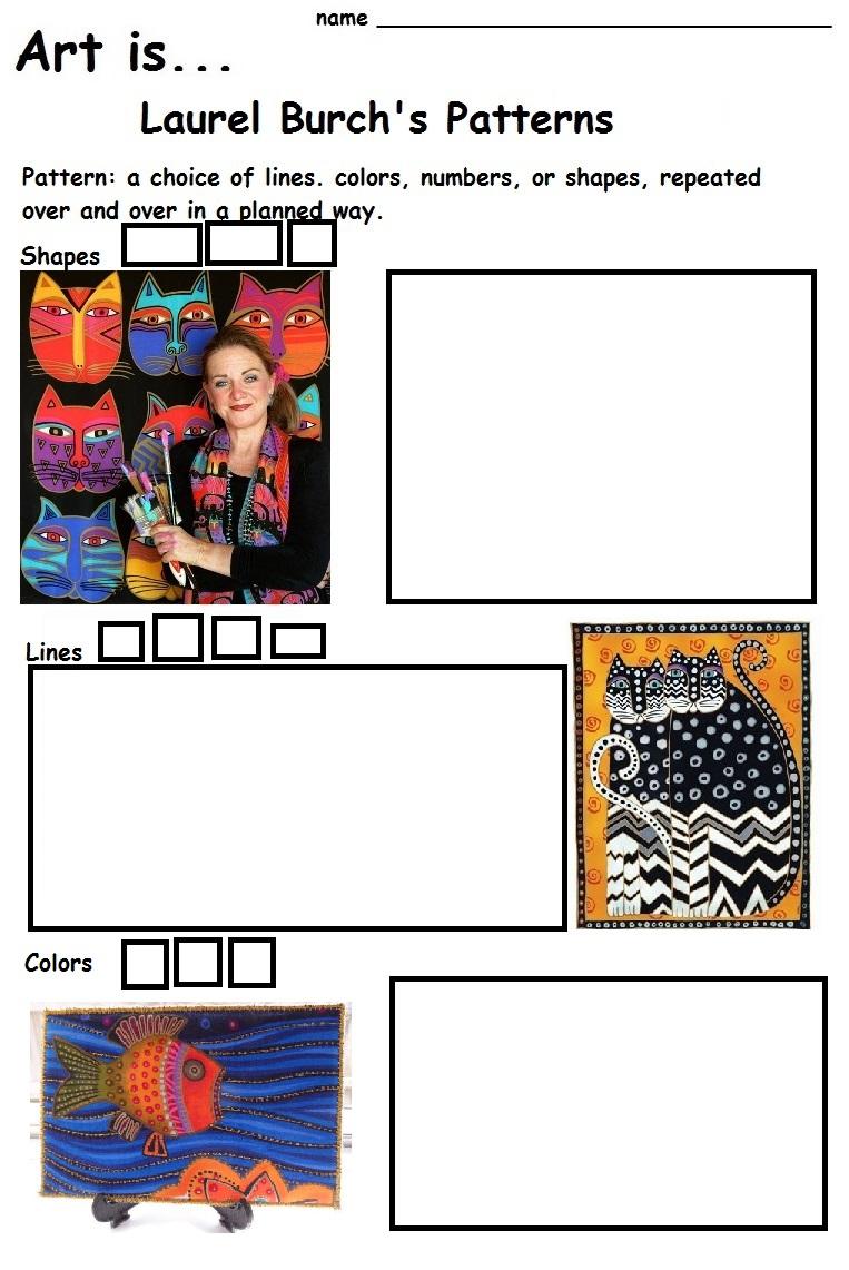 The Smartteacher Resource  Art Islaurel Burch's Patterns