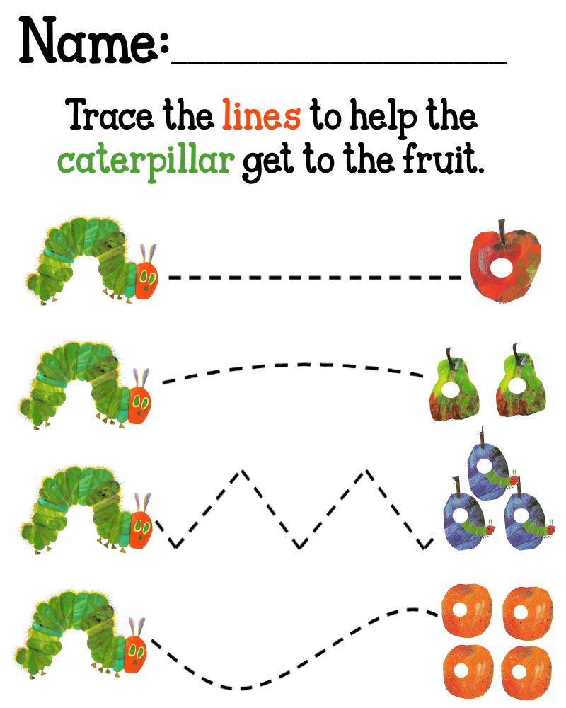 The Very Hungry Caterpillar Worksheet The Best Worksheets Image