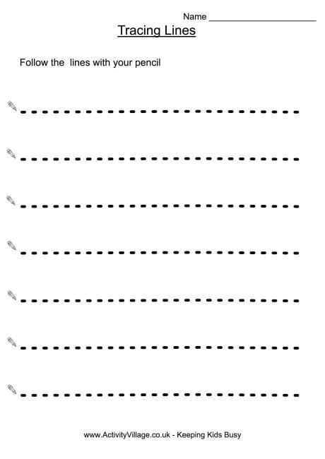 Tracing Lines Worksheets For Preschool Pdf 1062138