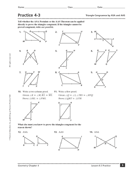 Triangle Congruence Theorems Worksheet Answers The Best Worksheets