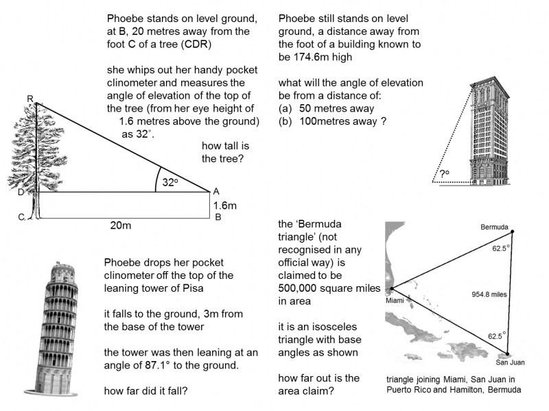 Trigonometry Word Problems Worksheet 784848