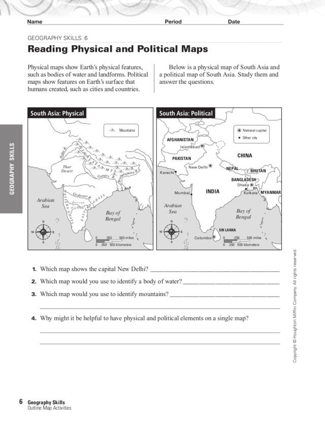Types Of Maps Worksheets The Best Worksheets Image Collection