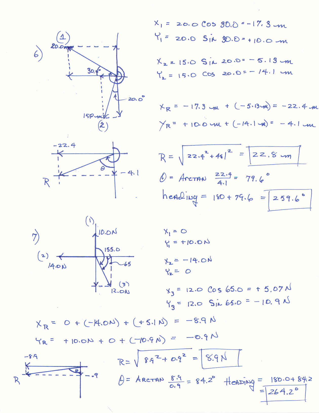 Vectors Math Worksheets With Answers 712839