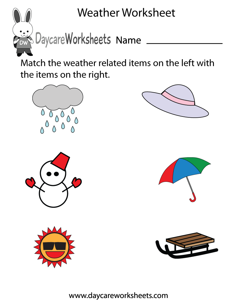 Weather Worksheets Preschool The Best Worksheets Image Collection
