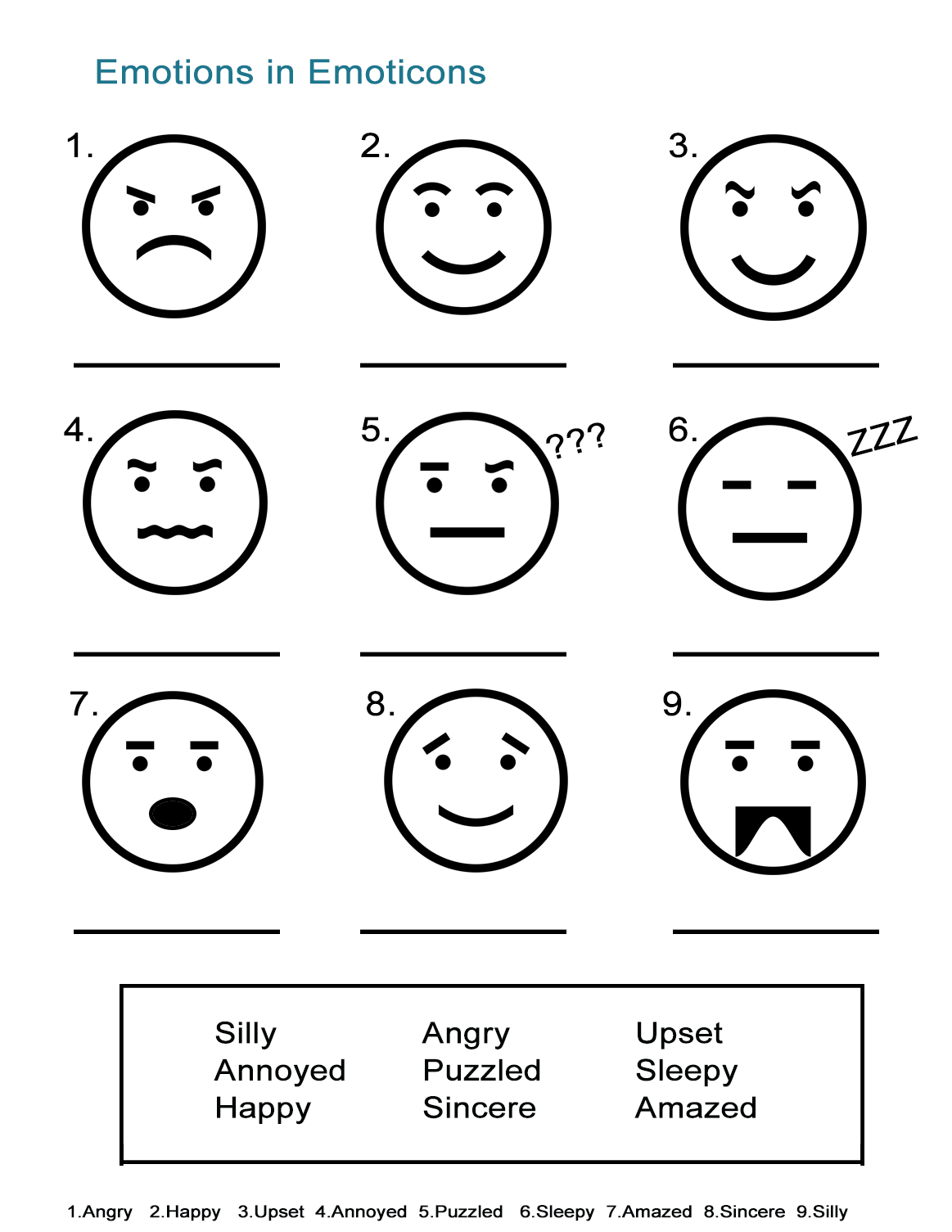 Worksheets About Emotions The Best Worksheets Image Collection
