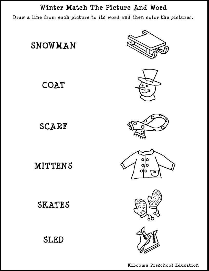 Image Result For Winter Worksheet Printable