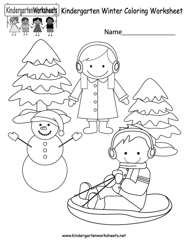 Winter Coloring Worksheet