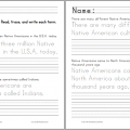 Free Printable Native American Worksheets