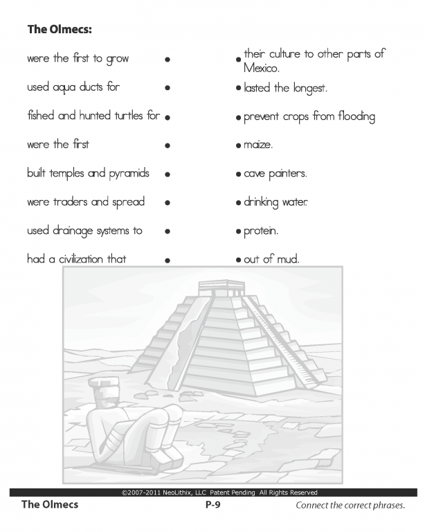 Sample 6th Grade Social Studies The Olmecs & The Mayans
