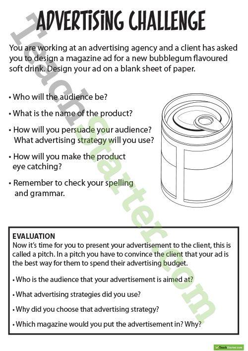 Advertising Resource Pack Teaching Resource