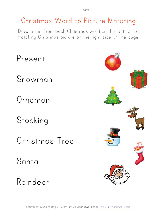 Christmas Worksheets For Preschool Worksheets For All
