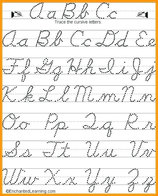Cursive Letters Traceable Cursive Letters Tracing Sheets