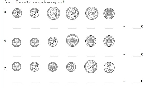 Printable Money Worksheets First Grade Worksheets For All