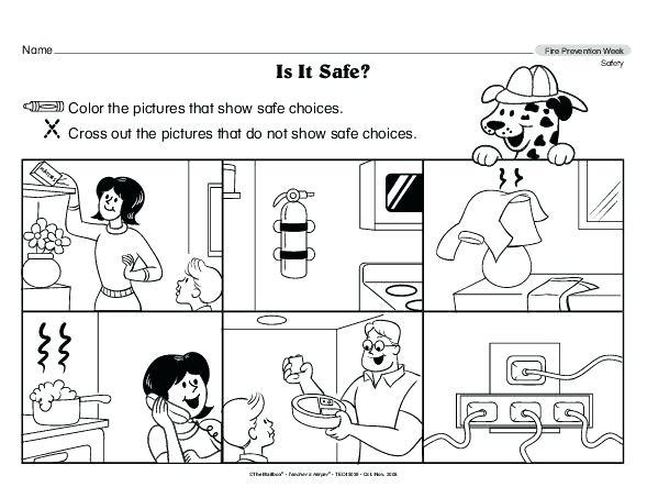 Safety Worksheets For Kindergarten Kids Worksheets Printable Water