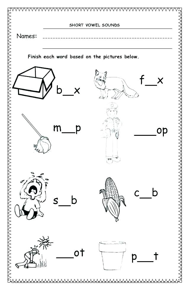Ending Sounds Worksheets Grade For All Download And Share Free L