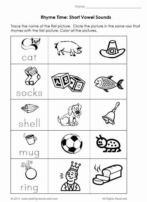 Short Vowel Words Beautiful Phonics Worksheets For Adults Phonics