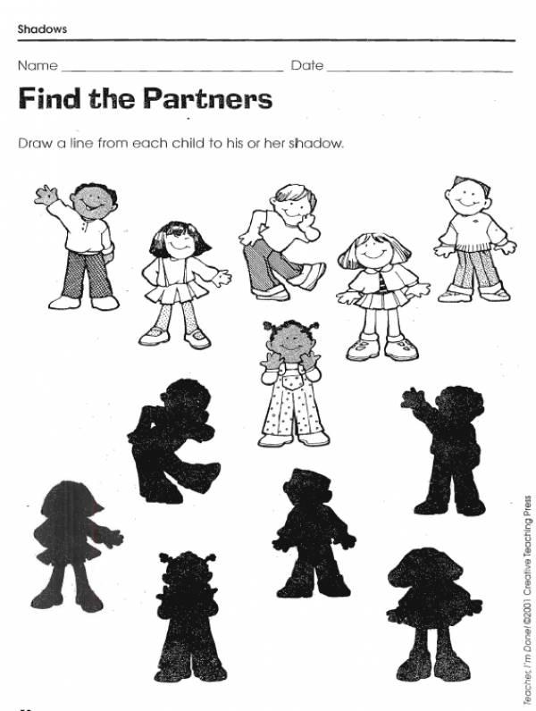 Shadow Matching Worksheets