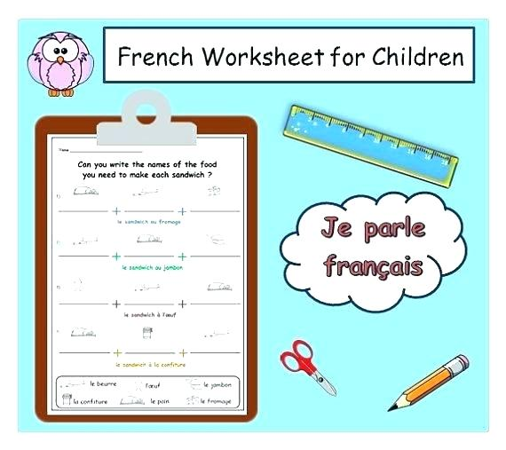 French Food Vocabulary Worksheets For Kindergarten English Words