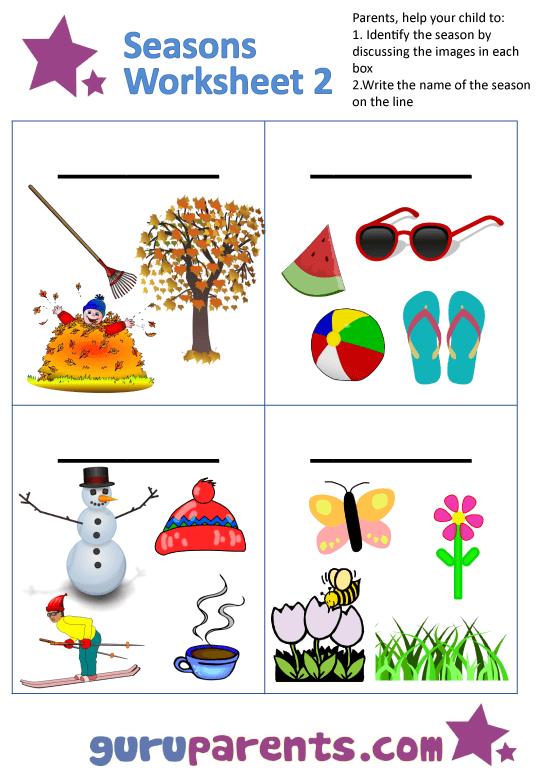 Seasons Worksheets