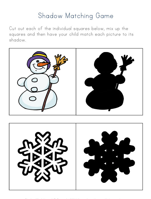 Shadow Matching Game For Kids