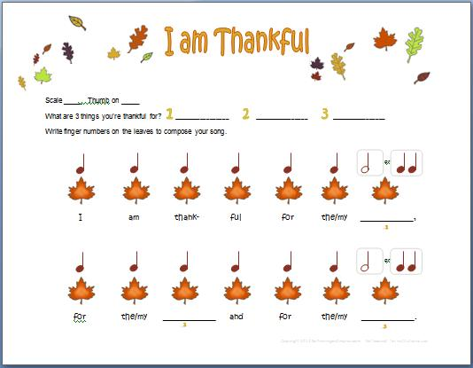 I Am Thankful  Easy Piano Composition With Rhythm