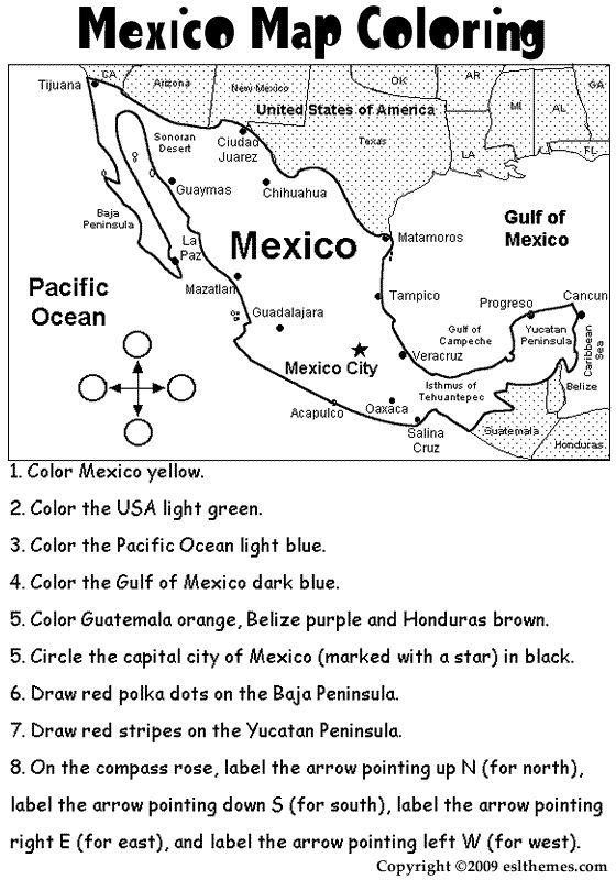 Mexico Coloring Activities
