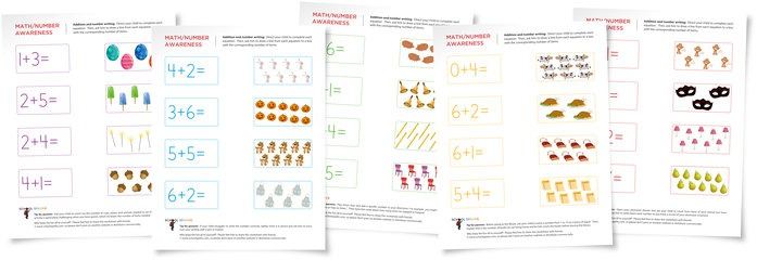 Challenging Math Worksheets For Children Ready For Addition