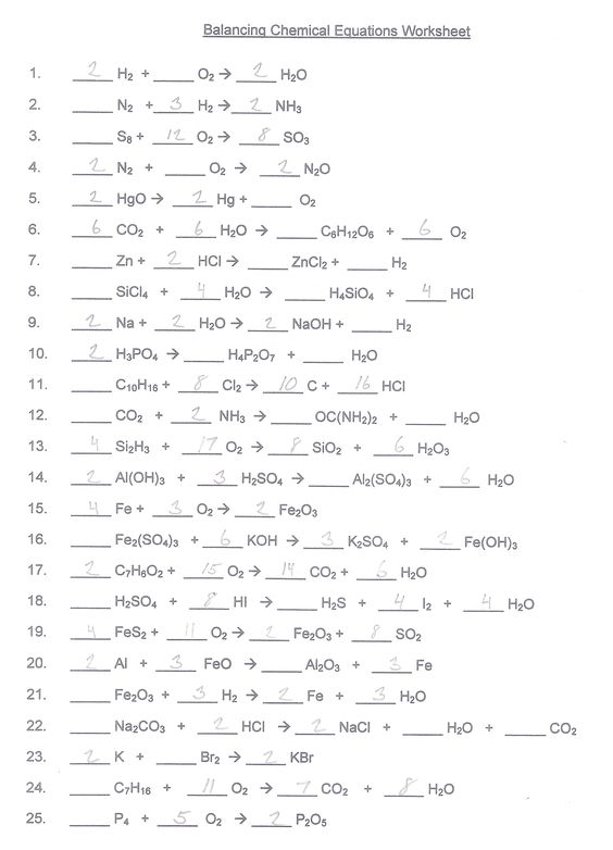 Printables  Chemistry Worksheet Answers  Lemonlilyfestival