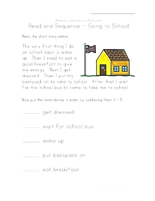 Sequence Of Events Worksheets Middle School