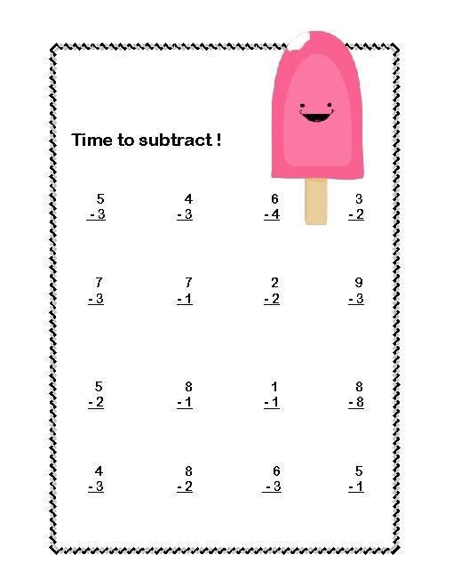 1st Grade Math Worksheets Addition And Subtraction First Grade