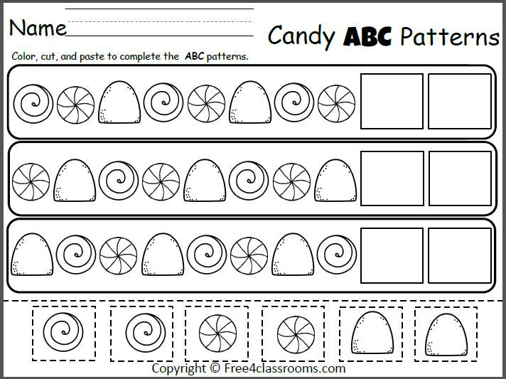 Free Candy Abc Patterns Cut And Paste