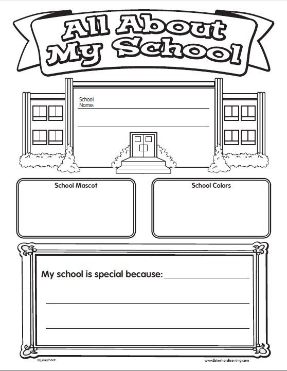 All About My School Poster Printable From Lakeshore Learning