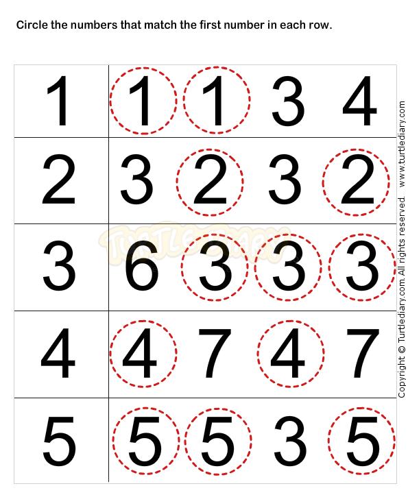 Learn Numbers Worksheets For Preschoolers