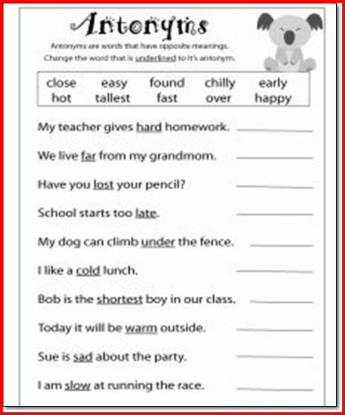 3rd Grade Language Arts Worksheets To Learning ⋆ Free Printables
