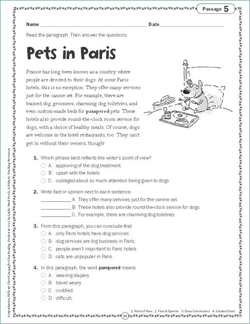 3rd Grade Language Arts Worksheets