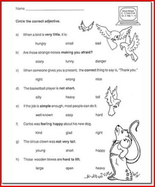4th Grade Language Arts Worksheets To Free Download ⋆ Free