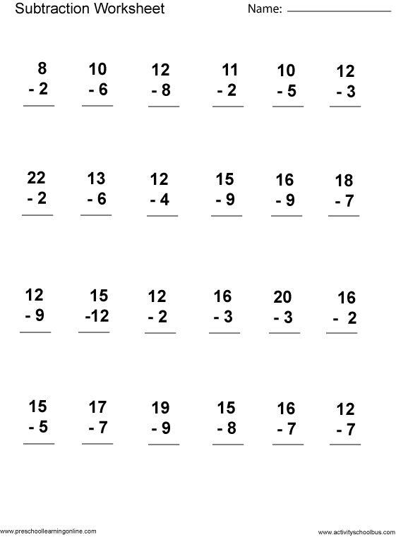 Printables  Printable Math Worksheets 1st Grade  Lemonlilyfestival